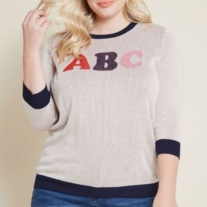 Modcloth My Letter Half Sweater